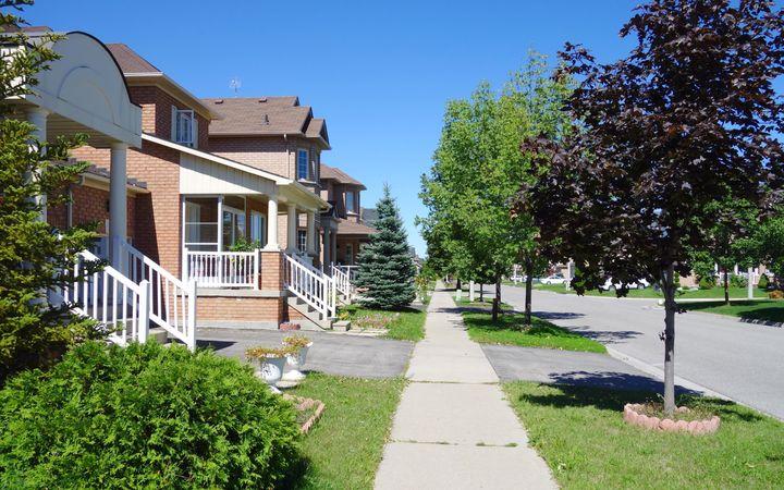 A suburban street is seen here near Toronto.