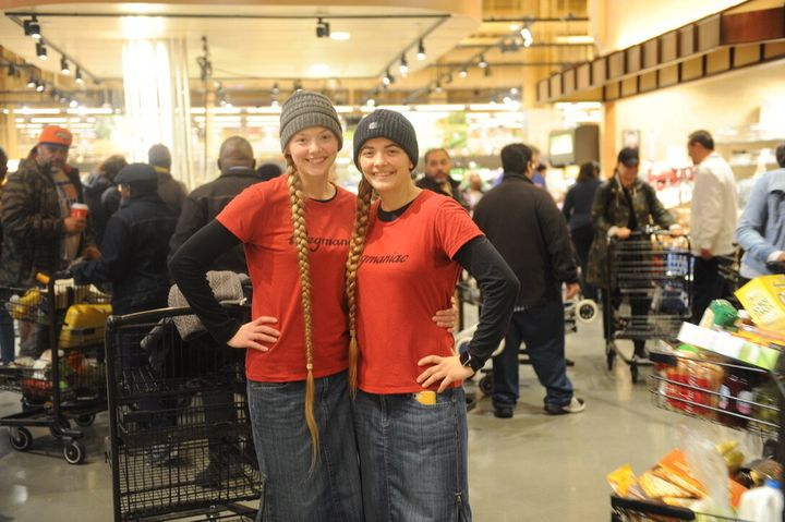 "Kathryn Cortez (L) flew to Rochester, New York, from Wisconsin and drove down with her sister, Marie Palmer (R). ""I've always really wanted to come to a store opening so badly,"" Marie, an employee at Wegmans herself, told HuffPost."
