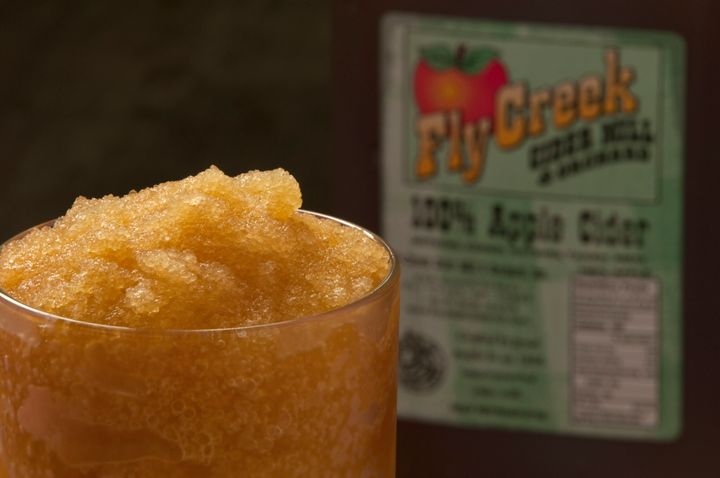 The cider slushie at Fly Creek in upstate New York is simple and refreshing.