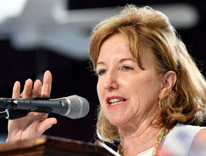 Former North Carolina Sen. Kay Hagan in 2016.
