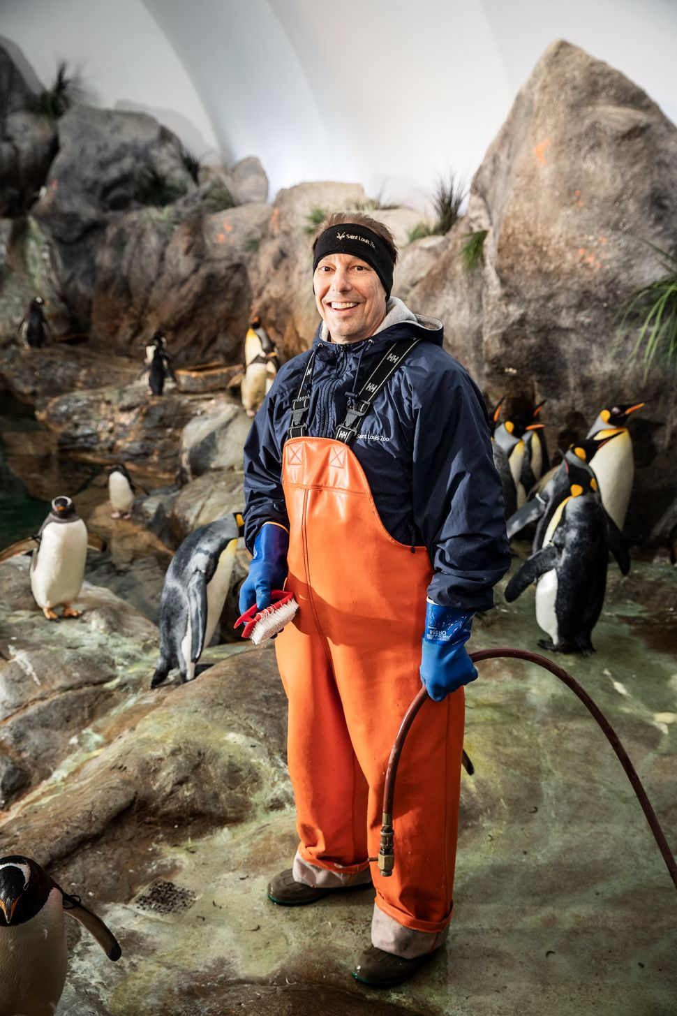 Rick Smith, a penguin keeper at the St. Louis Zoo.