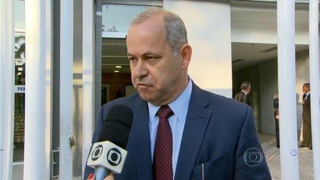 O político Domingos Brazão, em imagem de entrevista à TV Globo, quando prestou depoimento...