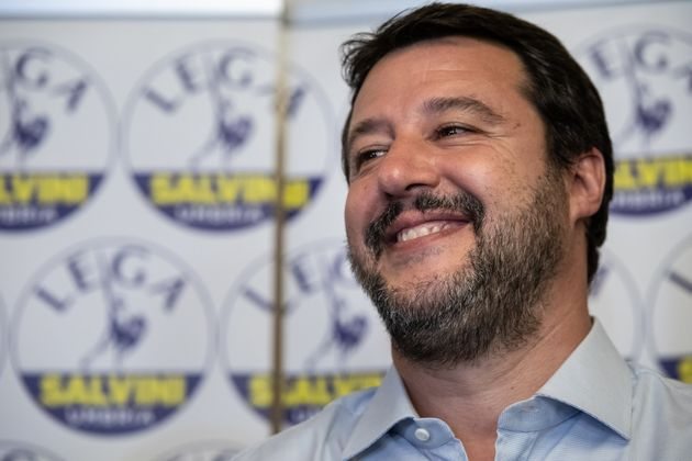PERUGIA, ITALY - 2019/10/28: Matteo Salvini, leader of the political party Lega speaks to the media after...