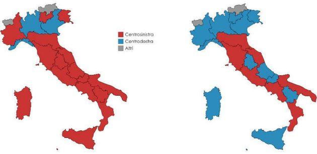 Da 3 a 12 Regioni in due anni, la spietata avanzata della destra