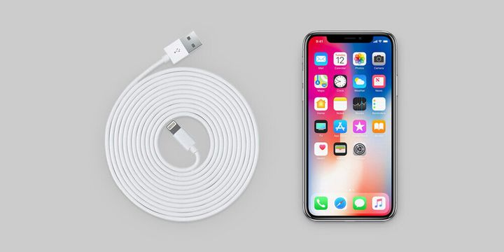 These lightning cables are 10 feet long, much longer than the standard iPhone cables. Even better, you'll get three in a pack ― so you can keep one in each room of your house.