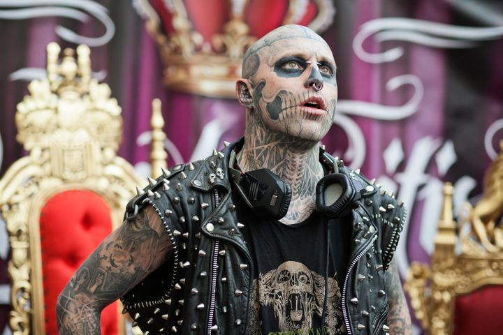 Zombie Boy at the Great British Tattoo Show in London, England in May 2014.