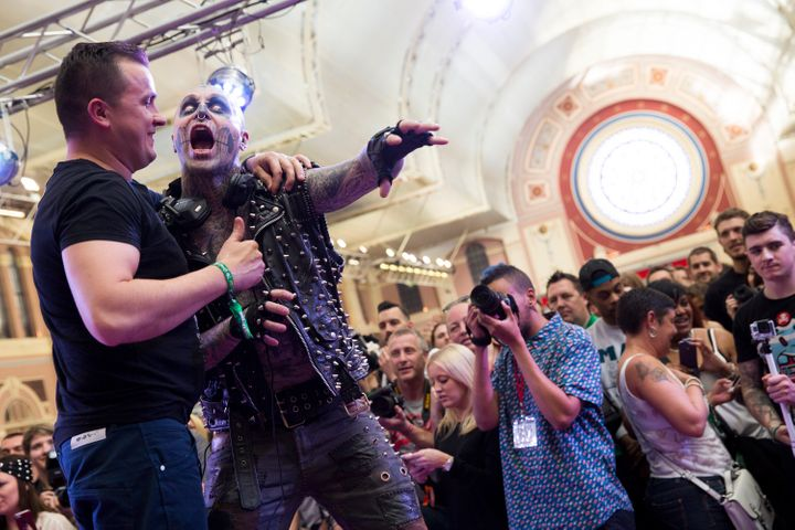 Zombie Boy attends The Great British Tattoo Show at Alexandra Palace on May 24, 2014 in London, England.