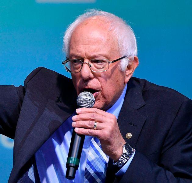Sen. Bernie Sanders at the J Street National Conference in Washington, D.C., on