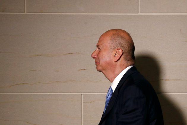US Ambassador to the European Union Gordon Sondland walks to a secure area of the Capitol to testify...