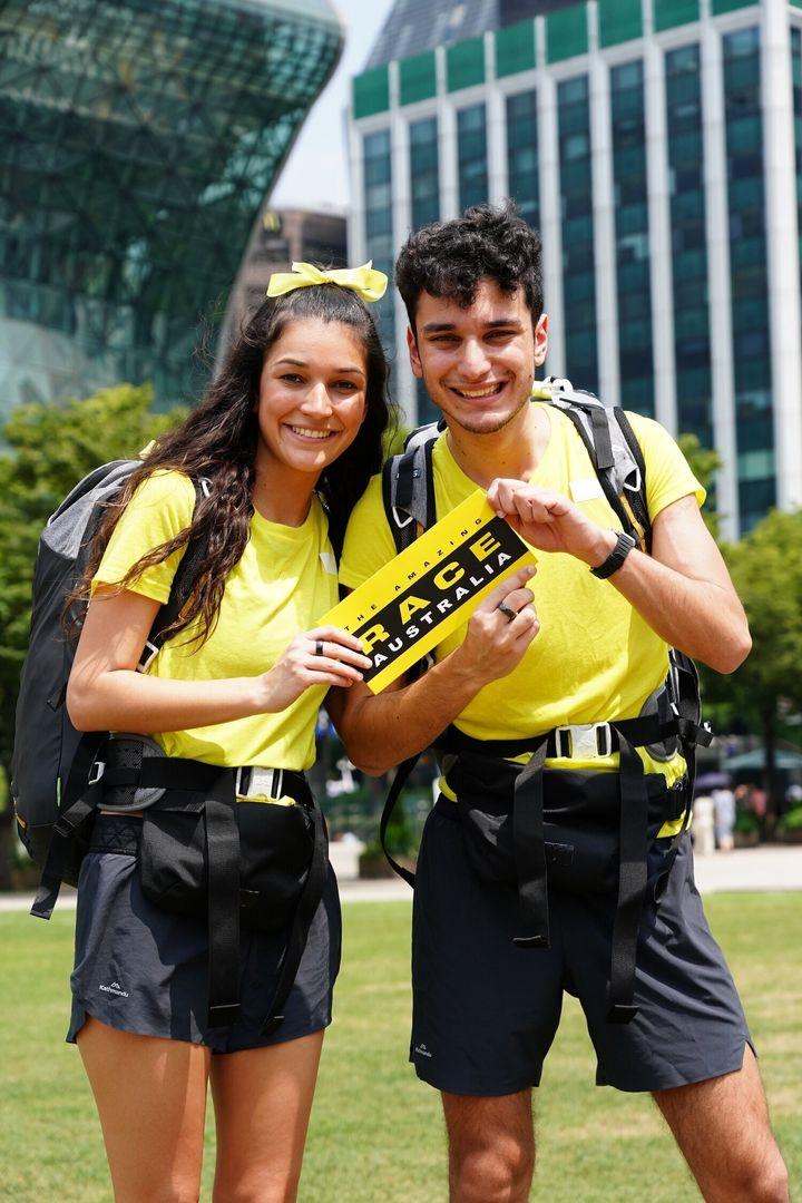 The Amazing Race Australia contestants Alana and Niko Pappas.