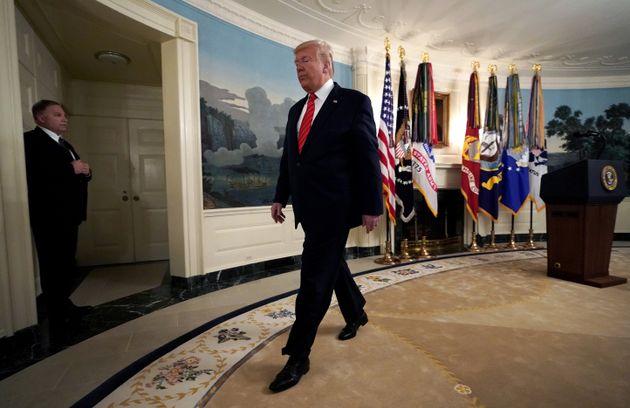 Donald Trump après une déclaration à la Maison Blanche le 27 octobre