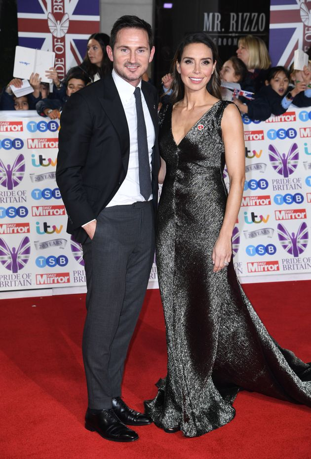 Frank Lampard and Christine Lampard attending the the 2019 Pride of Britain Awards, held at Grosvenor...