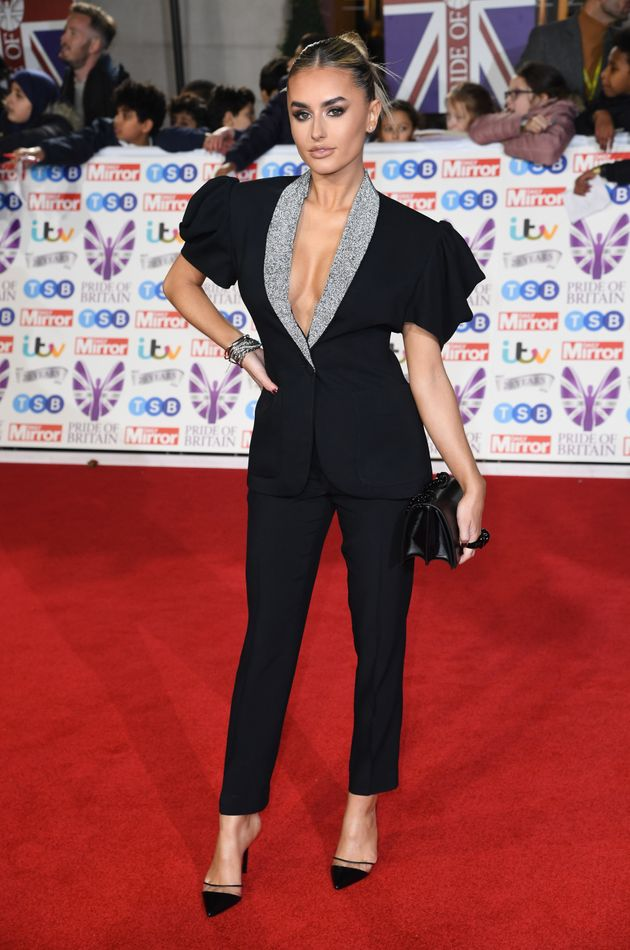 Amber Davies attending the the 2019 Pride of Britain Awards, held at Grosvenor House in London. The Daily...