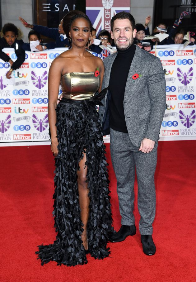 Oti Mabuse and Kelvin Fletcher attending the the 2019 Pride of Britain Awards, held at Grosvenor House...