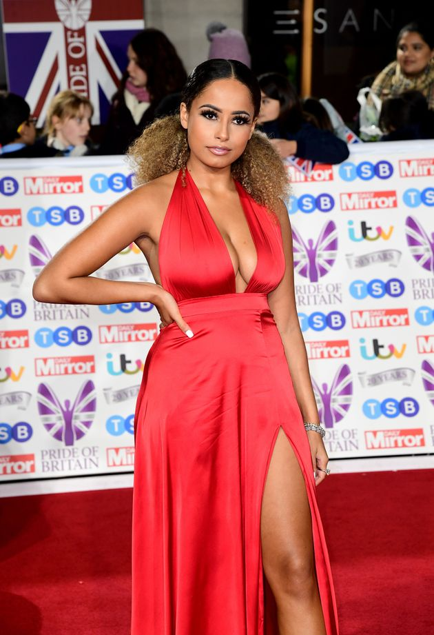 Amber Gill arriving for the Pride of Britain Awards held at the The Grosvenor House Hotel,