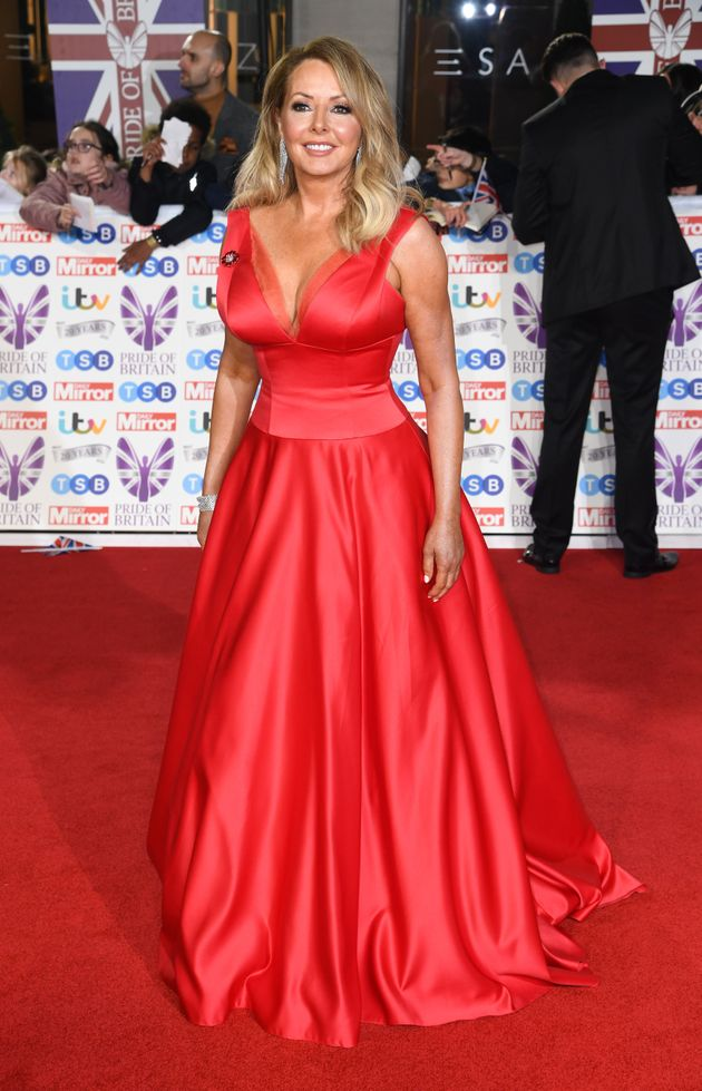 Carol Vorderman attending the the 2019 Pride of Britain Awards, held at Grosvenor House in London. The...