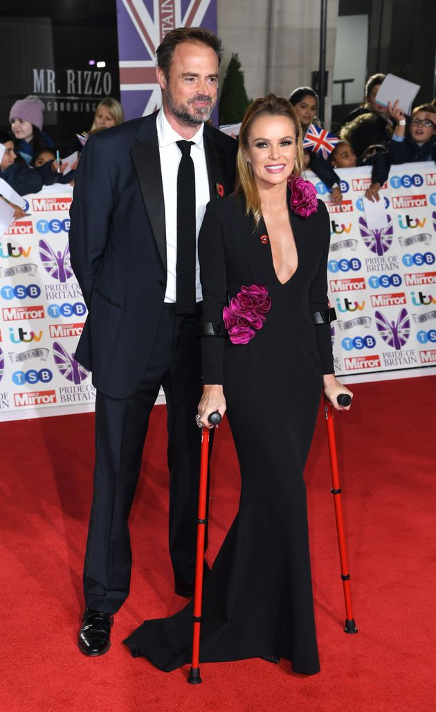 Jamie Theakston and Amanda Holden attending the the 2019 Pride of Britain Awards, held at Grosvenor House...