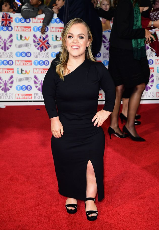 Ellie Simmonds arriving for the Pride of Britain Awards held at the The Grosvenor House Hotel,