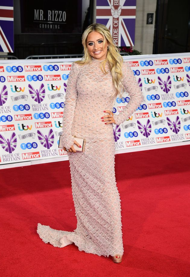 Saffron Barker arriving for the Pride of Britain Awards held at the The Grosvenor House Hotel,