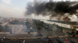 이라크 카발라에서 군이 시위대에게 발포해 최소 14명이