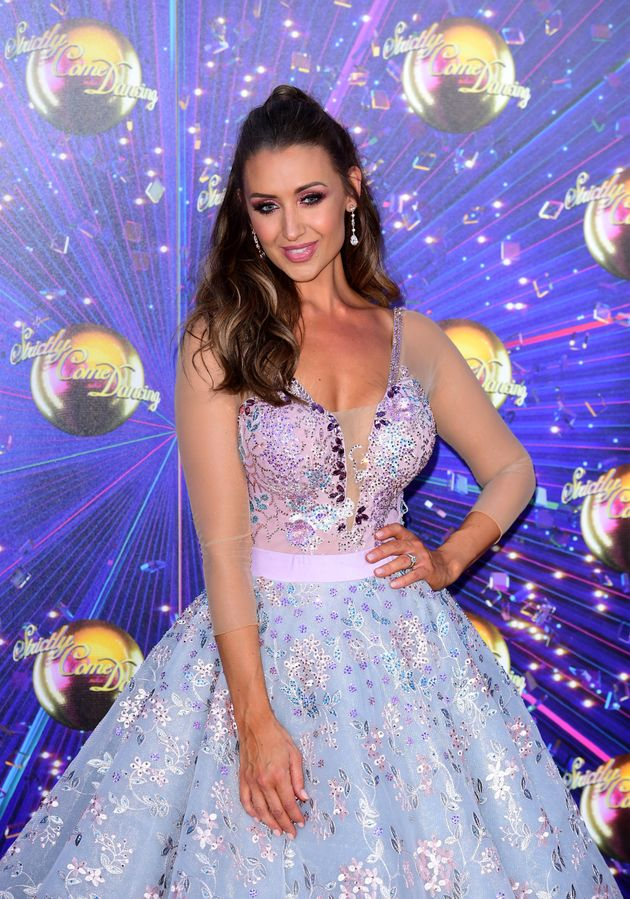 Catherine Tyldesley at this year's Strictly red carpet