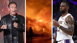 Gli incendi devastano la California. Anche Schwarzenegger e LeBron James tra gli