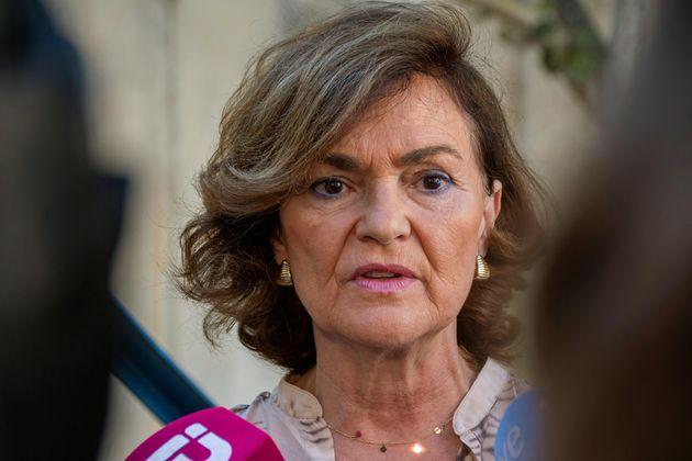 La vicepresidenta del Gobierno en funciones, Carmen
