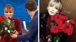 Fazio dona rose rosse a Emma e per i fan è una