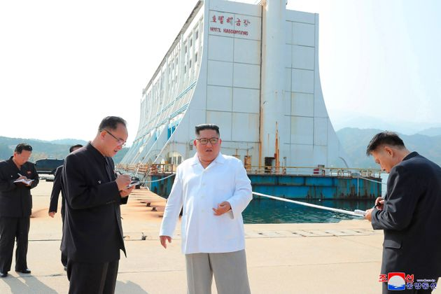 FILE - In this undated file photo provided on Wednesday, Oct. 23, 2019, by the North Korean government,...
