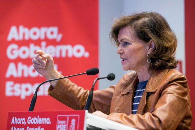 La vicepresidenta del Gobierno en funciones, Carmen Calvo, en una imagen de