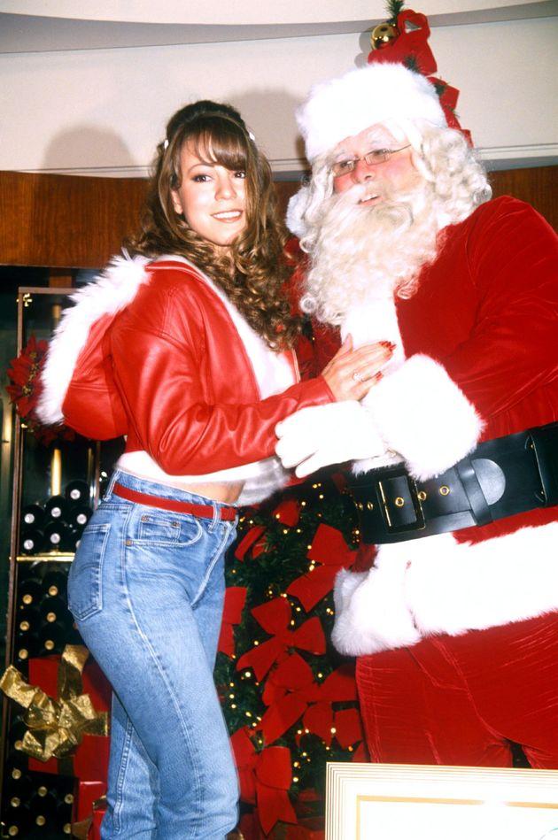 Mariah Carey launching her Christmas album in New York in