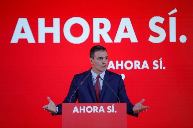 El presidente del gobierno en funciones y candidato a la reelección por el PSOE, Pedro