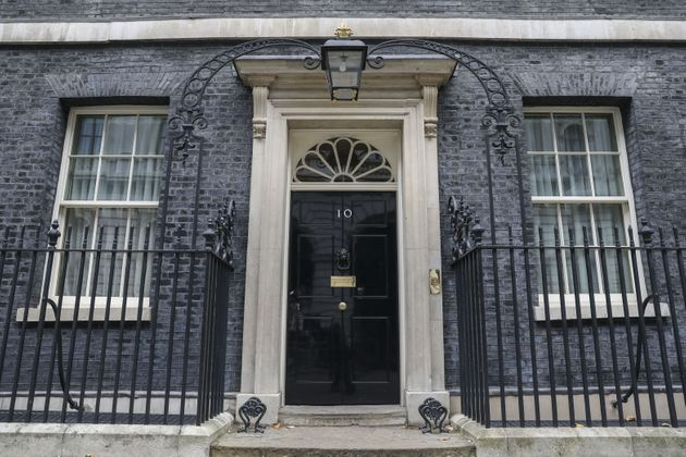 The view outside 10 Downing Street in London is seen here on Tuesday as British Prime Minister Boris...