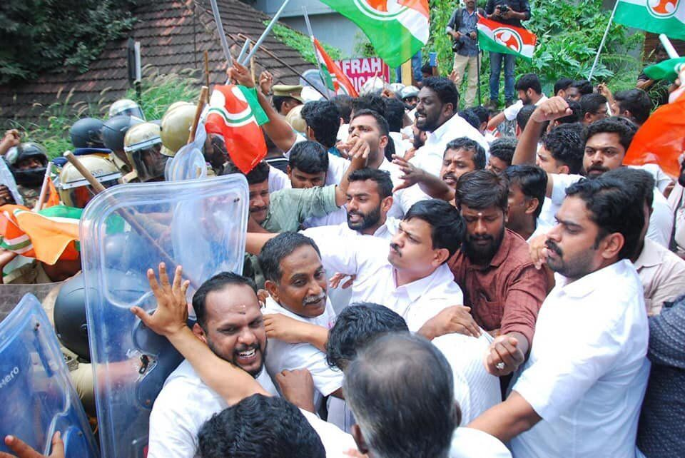 Kerala Congress workers protest over the Walayar deaths. On Monday, a series of protest marches and meetings...