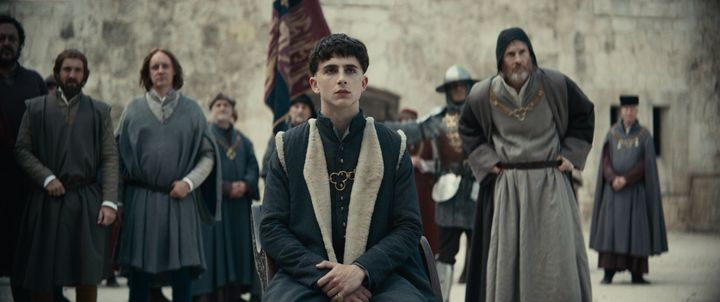 "Timothée Chalamet in ""The King."""