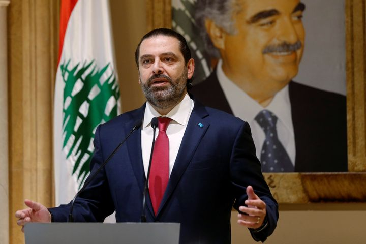 Lebanon's Prime Minister Saad al-Hariri speaks during a news conference in Beirut, Lebanon October 29, 2019. (REUTERS/Mohamed
