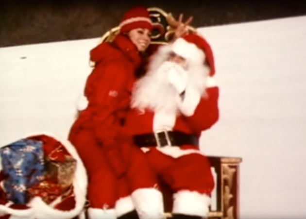 Mariah Carey roped in her ex-husband Tommy to dress up as Santa in the accompanying