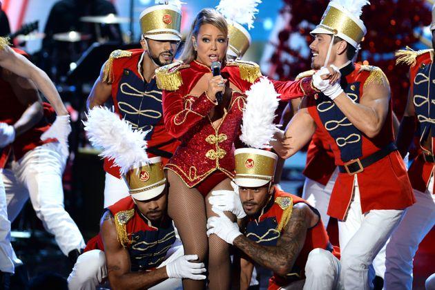 Mariah Carey performs during the
