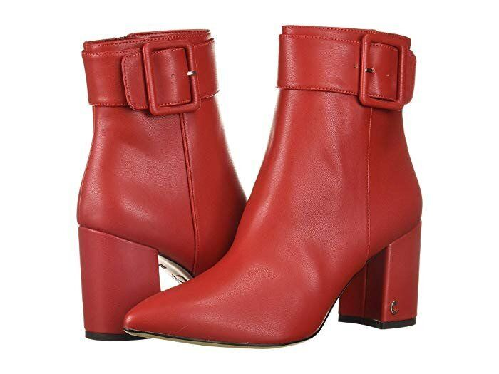 red croc ankle boots