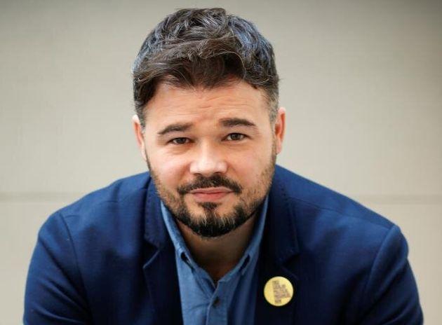 El cabeza de lista de ERC en las elecciones del 10N, Gabriel Rufián, durante la entrevista. EFE/ Quique
