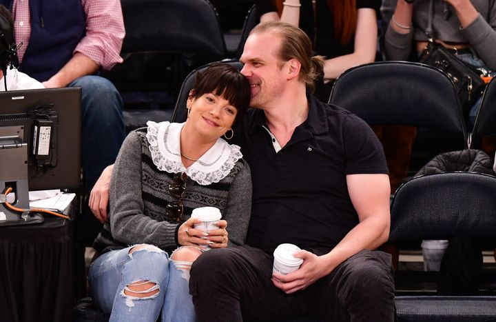 Allen and Harbour attend New York Knicks vs. New Orleans Pelicans preseason game at Madison Square Garden on October 18, 2019