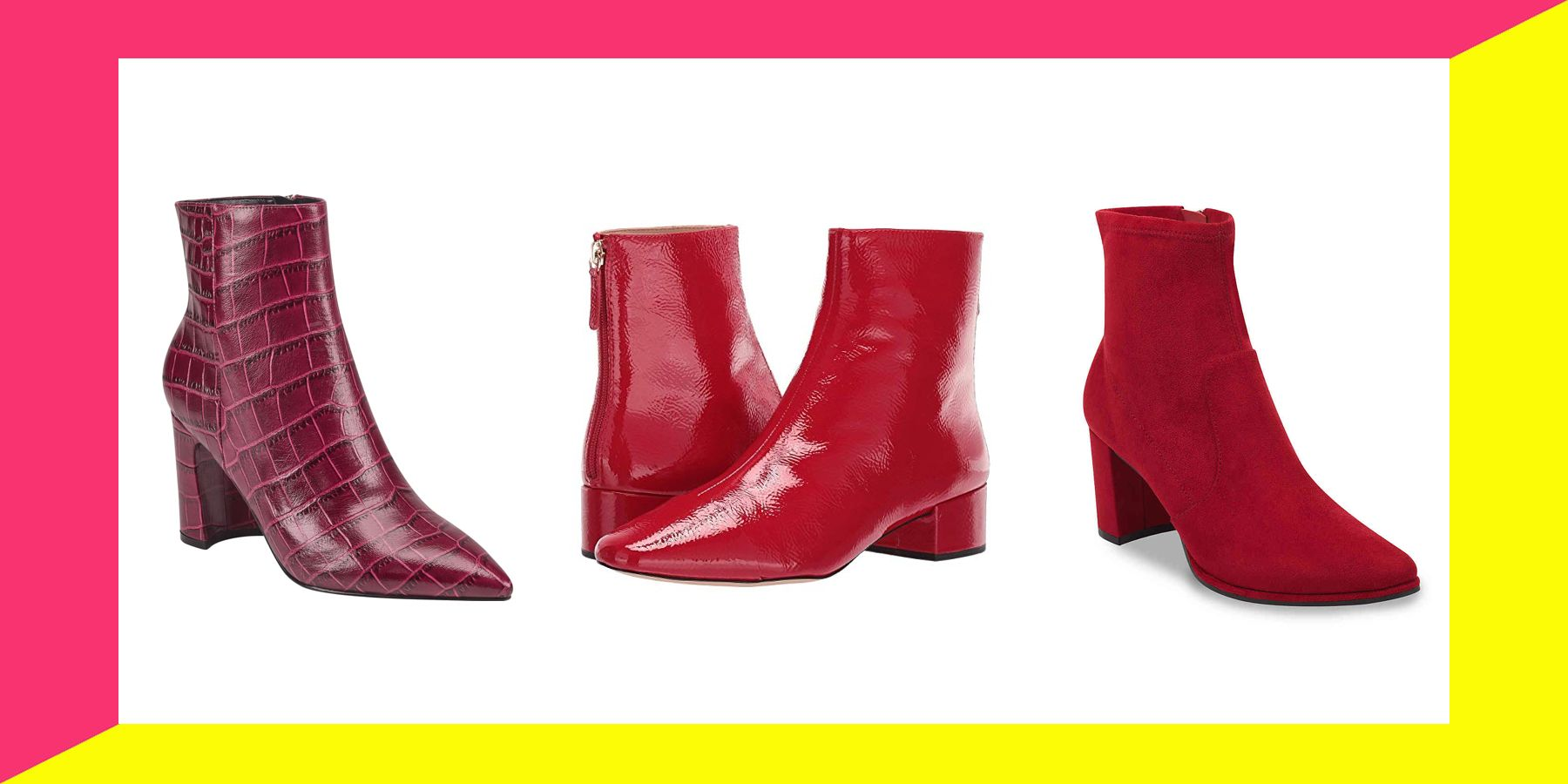 21 Pairs Of Red Ankle Boots To Rock