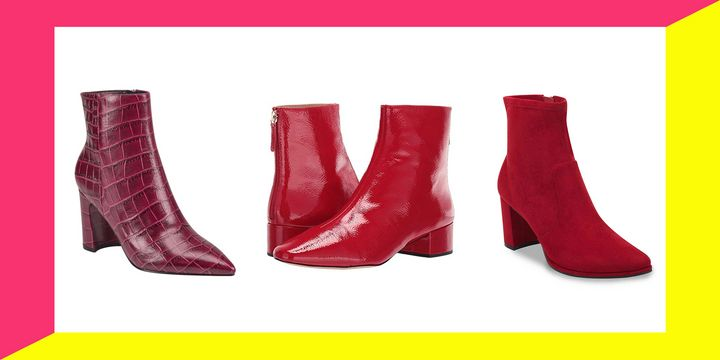 If you can pull off red ankle boots, you have some serious BDE.