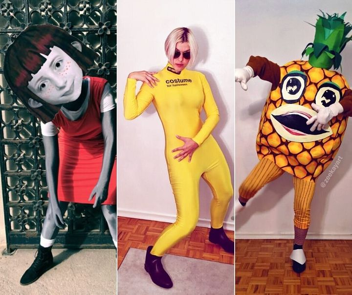 Toronto cosplayer Zee Kay's CanCon inspired Halloween costumes. (L-R) Angela Anaconda, No Name Brand and Ananas.