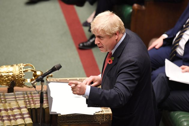 Boris Johnson, durante su comparecencia de hoy en la Cámara de los