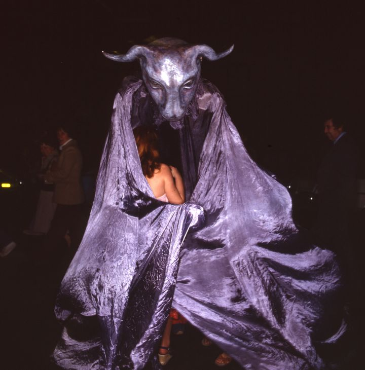 New York's Halloween parade in a photo from the late 1970s or early '80s.