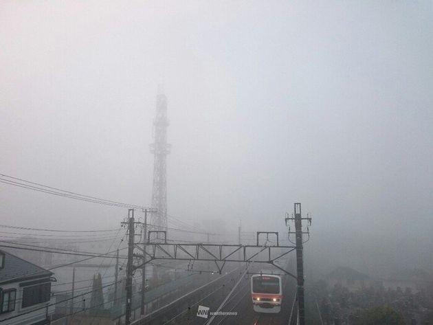 千葉県船橋市より(30日6時過ぎの様子)