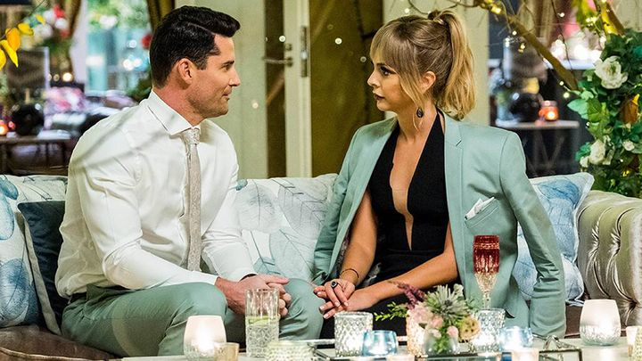 The Bachelorette Australia contestant Jamie Doran with Angie Kent.