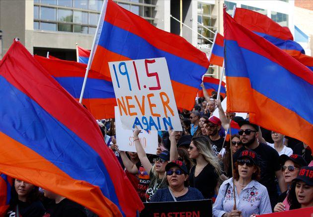 Συγκέντρωση Αρμενιων...