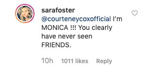 Courteney Cox Serves Up Savage Review Of Actress Sara Foster's 'Monica' Halloween